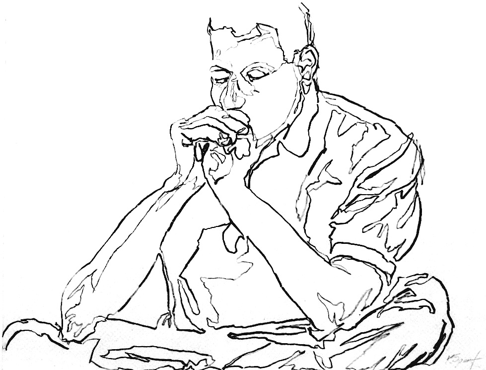 979x745 Contour Line Drawing Of A Student Drawn To This