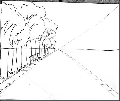 468x395 Drawing Steps For One Point Perspective With Photo Samples