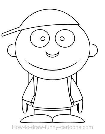 350x445 Drawing A Student Cartoon