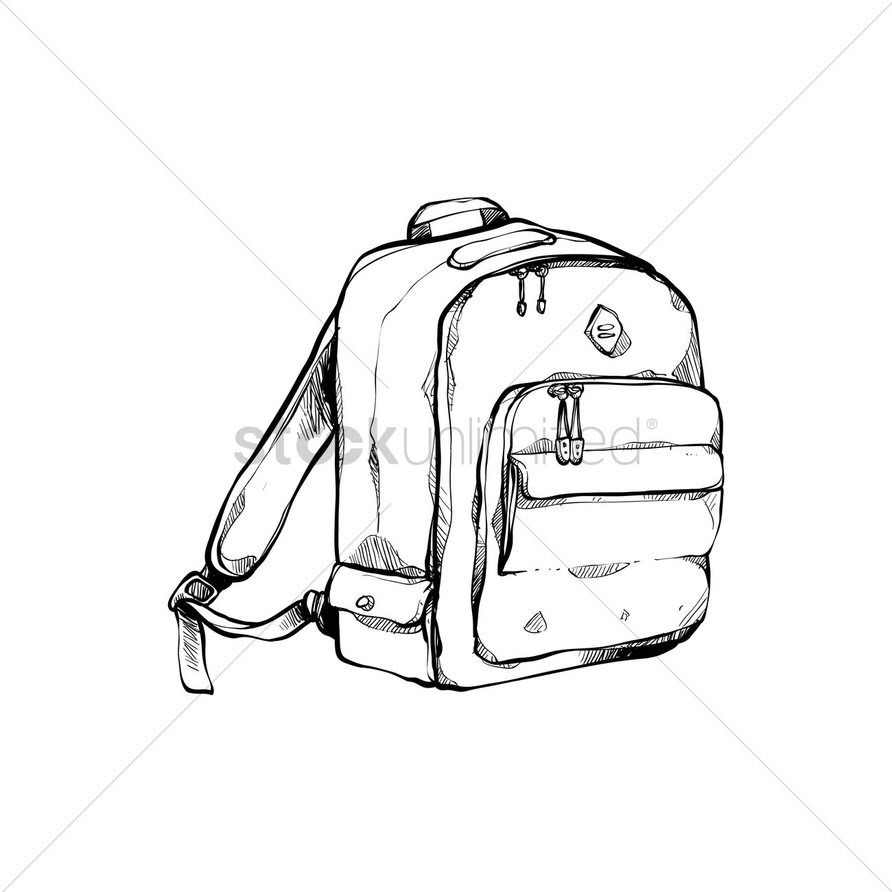 1300x1300 Student Backpack Vector Image