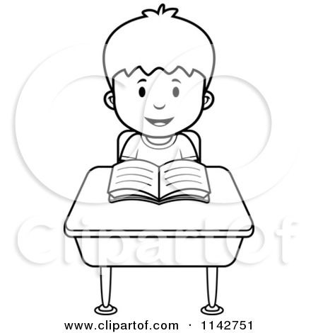 450x470 Desk Clipart Black And White