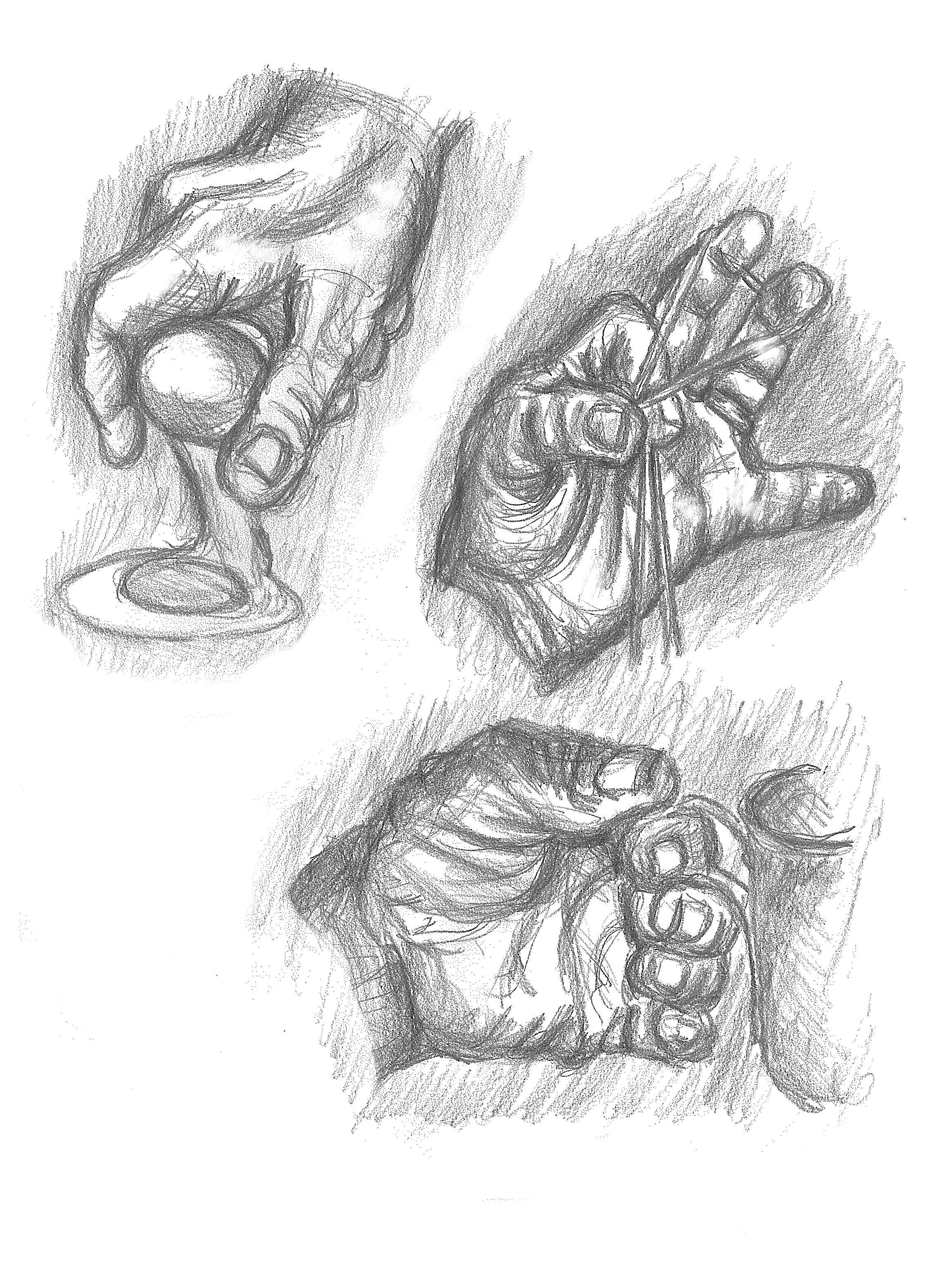 3314x4441 Drawing Amp Antonomies Study Of Hands Grasp By Edna Stewart
