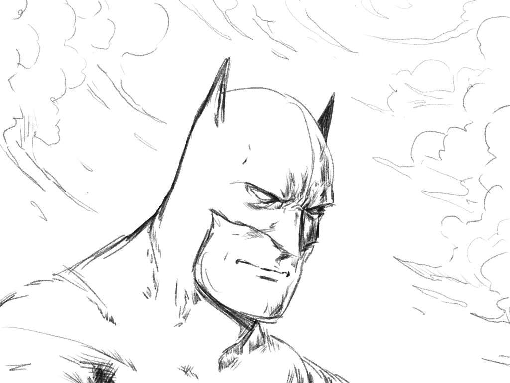 1024x768 Simple Drawing Sketch Of Batman New Template, New Drawing