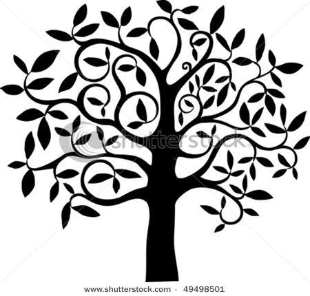 Stylized Tree Drawing