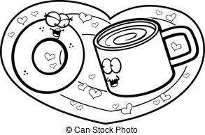 293x194 Coffee In A Styrofoam Cup And Donut. Vector Illustration