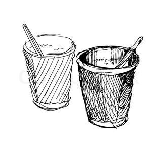320x303 Styrofoam Cup Of Coffee Stock Vector Colourbox