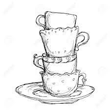 225x225 Best Drawing Cup Ideas On Tea Cup Drawing, Kawaii