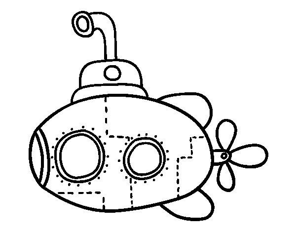 600x470 Scientific Submarine Coloring Page