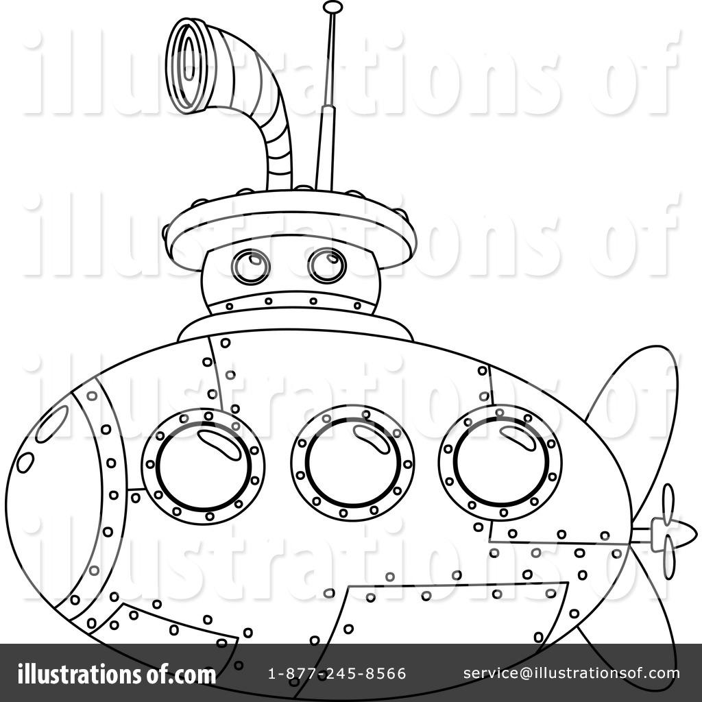 1024x1024 Submarine Clipart
