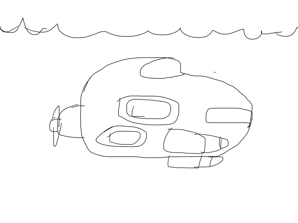 1032x774 Futuristic Submarine By Awsome Drawings