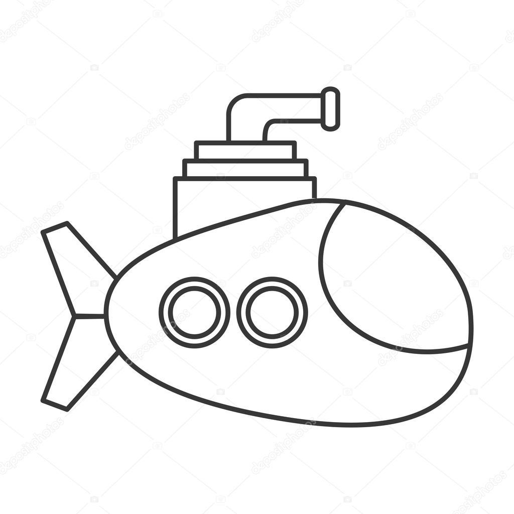 1024x1024 Small Submarine Icon Stock Vector Jemastock