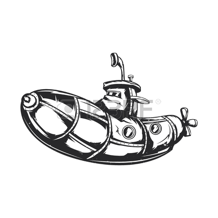 450x450 Isolated Illustration Of Funny Submarine Royalty Free Cliparts
