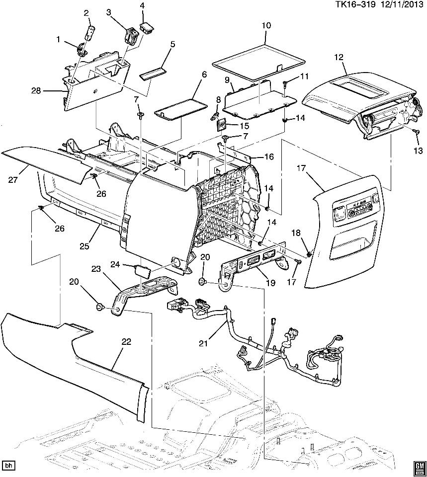 Suburban Drawing At Free For Personal Use Gm Door Diagram 859x960 2015 2016 Tahoe Yukon Center Console Assy Black New