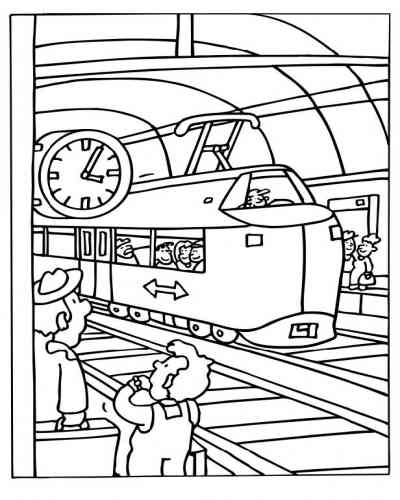 400x500 Subway Station Coloring Pages