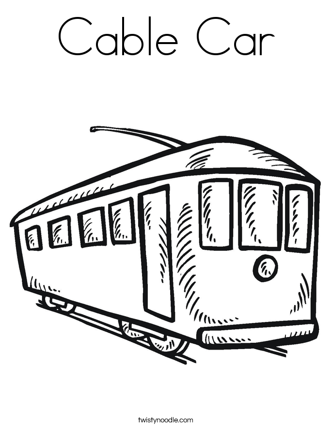 685x886 Cable Car Coloring Pages