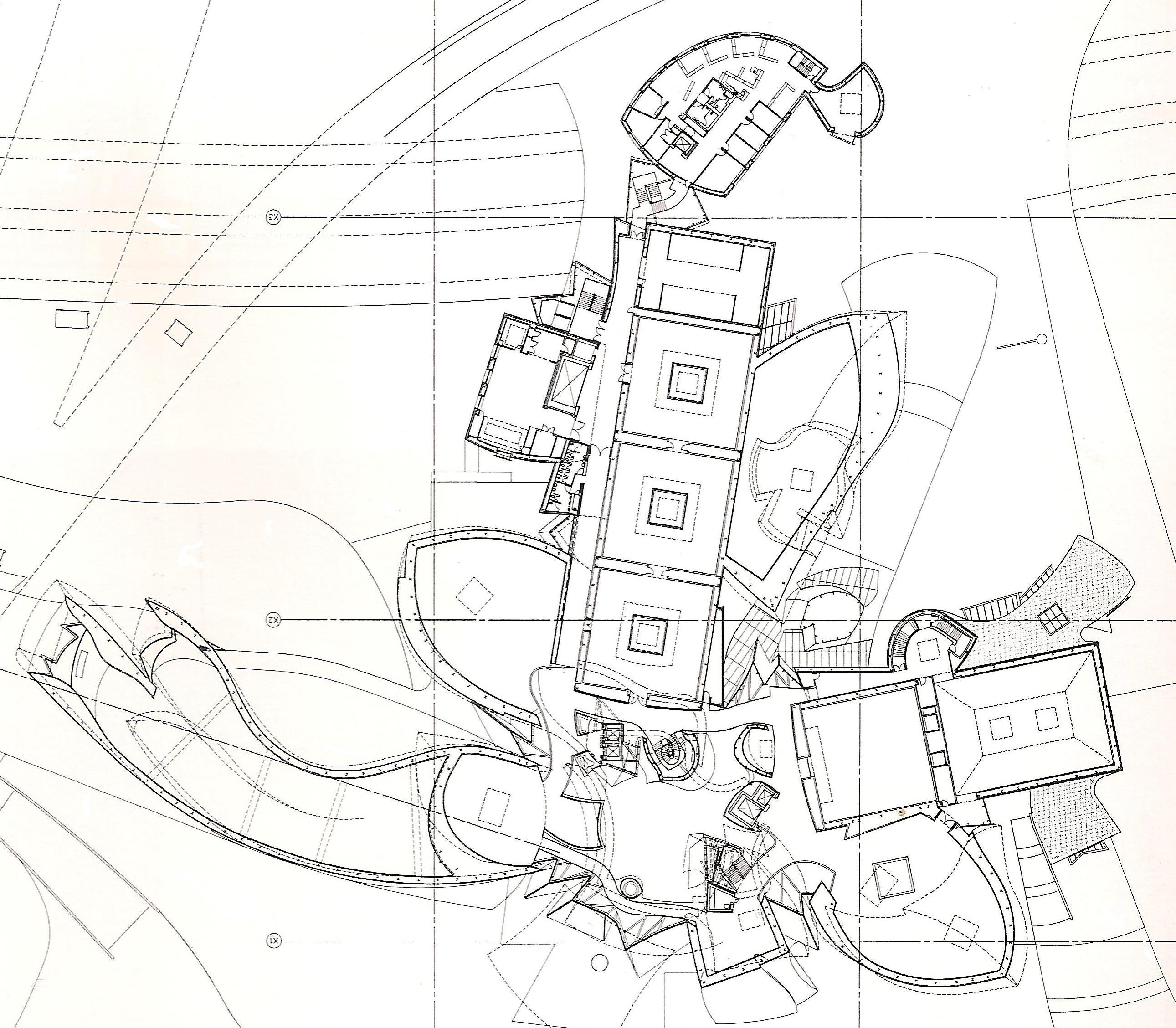 2581x2256 Guggenheim Bilbao Frank Gehry 1997 Museum Plans