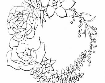 340x270 Wreath Sketch Etsy