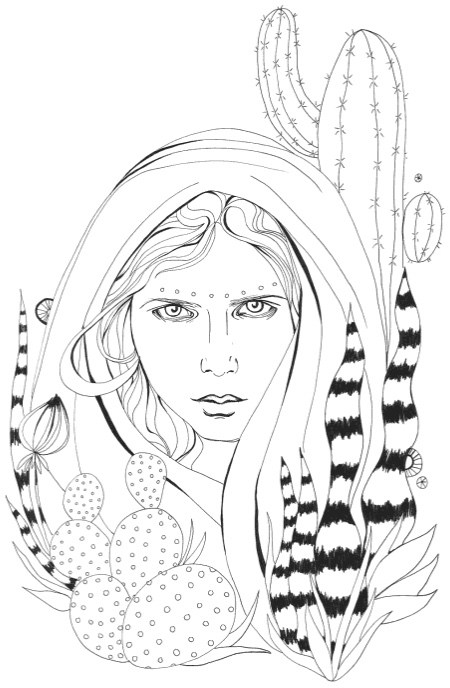 450x688 Best Succulent Amp Cactus Coloring Books Amp Pages