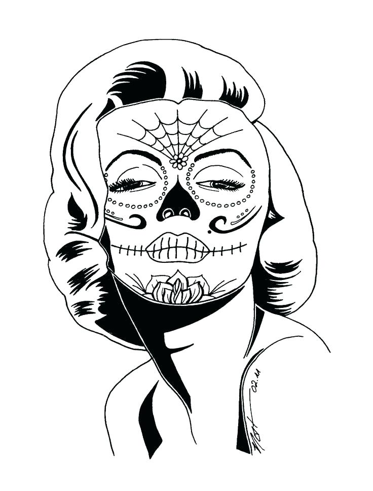 736x968 Sugar Skull Color Pages Free Sugar Skull Coloring Pages Sugar