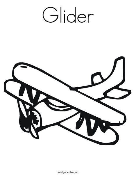 468x605 Glider Coloring Page