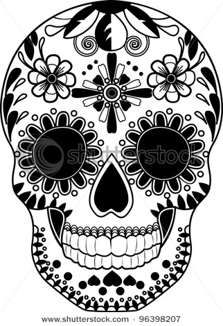 322x470 Gallery For Gt Sugar Skull Black And White Clip Art Tats
