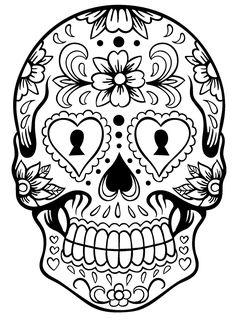 236x323 Images For Gt Sugar Skull Black And White Clip Art