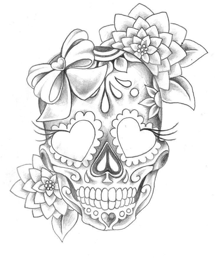 736x872 To Draw Awesome Tattoo, Tatting And Skull Couple