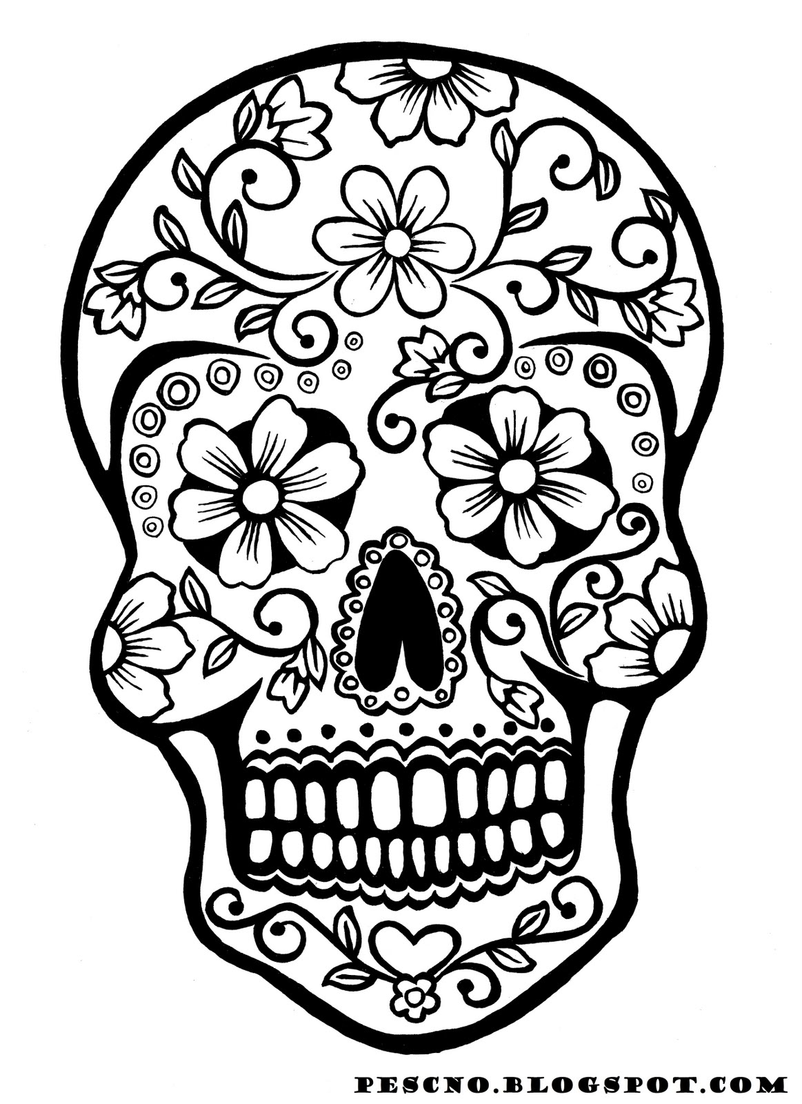 sugar skull drawing at getdrawings com