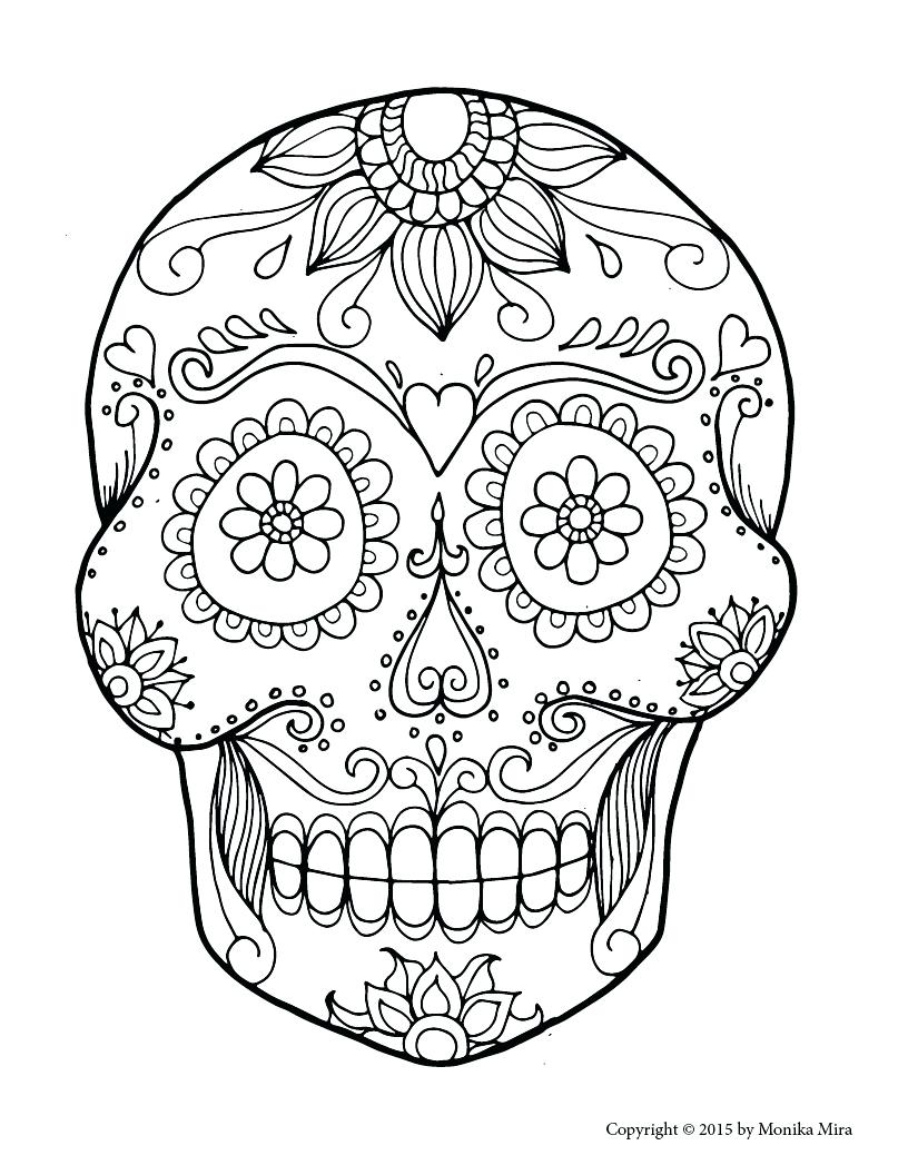 Sugar Skull Drawing Easy