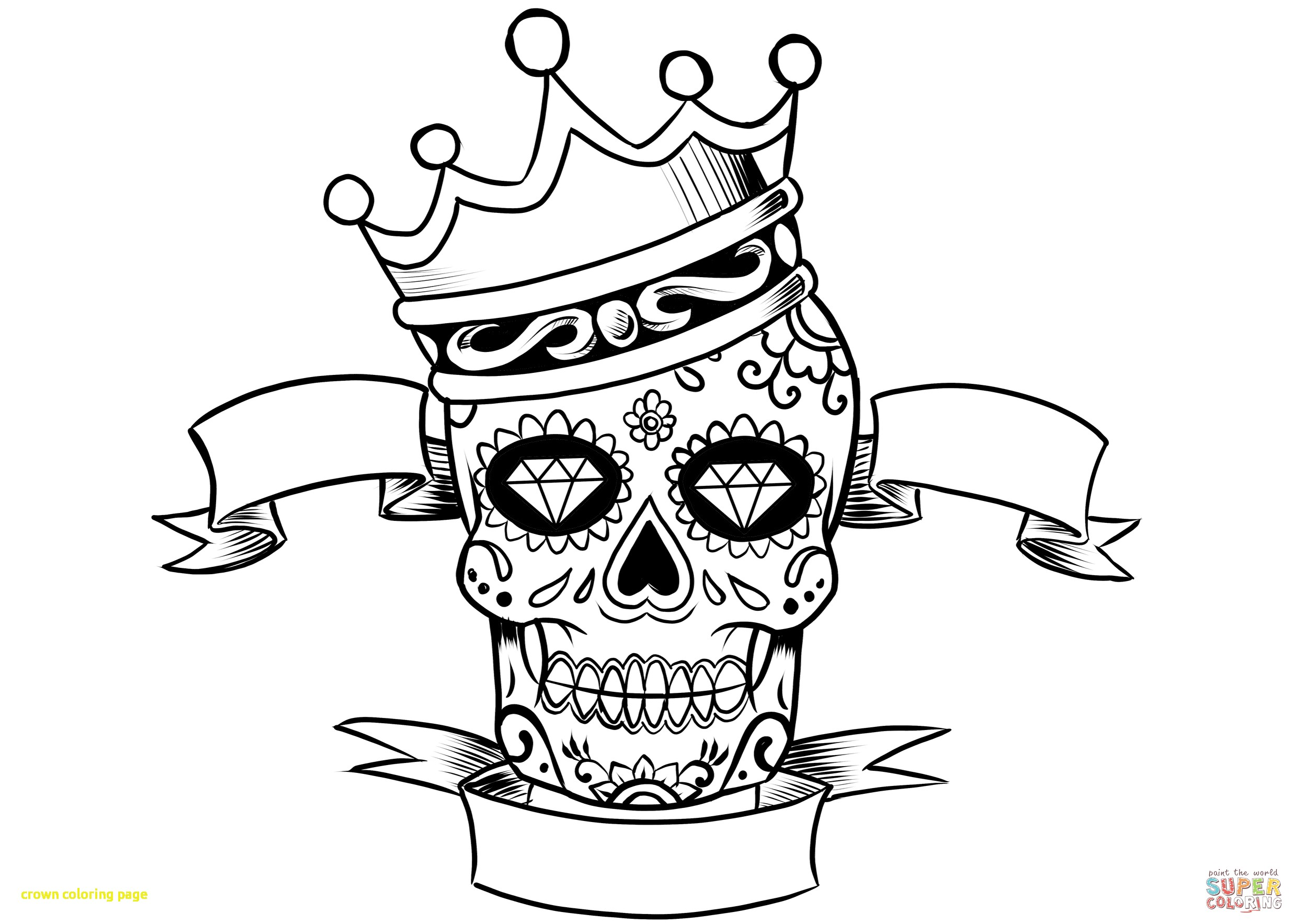 Sugar Skull Drawing Easy at GetDrawings.com | Free for personal use ...