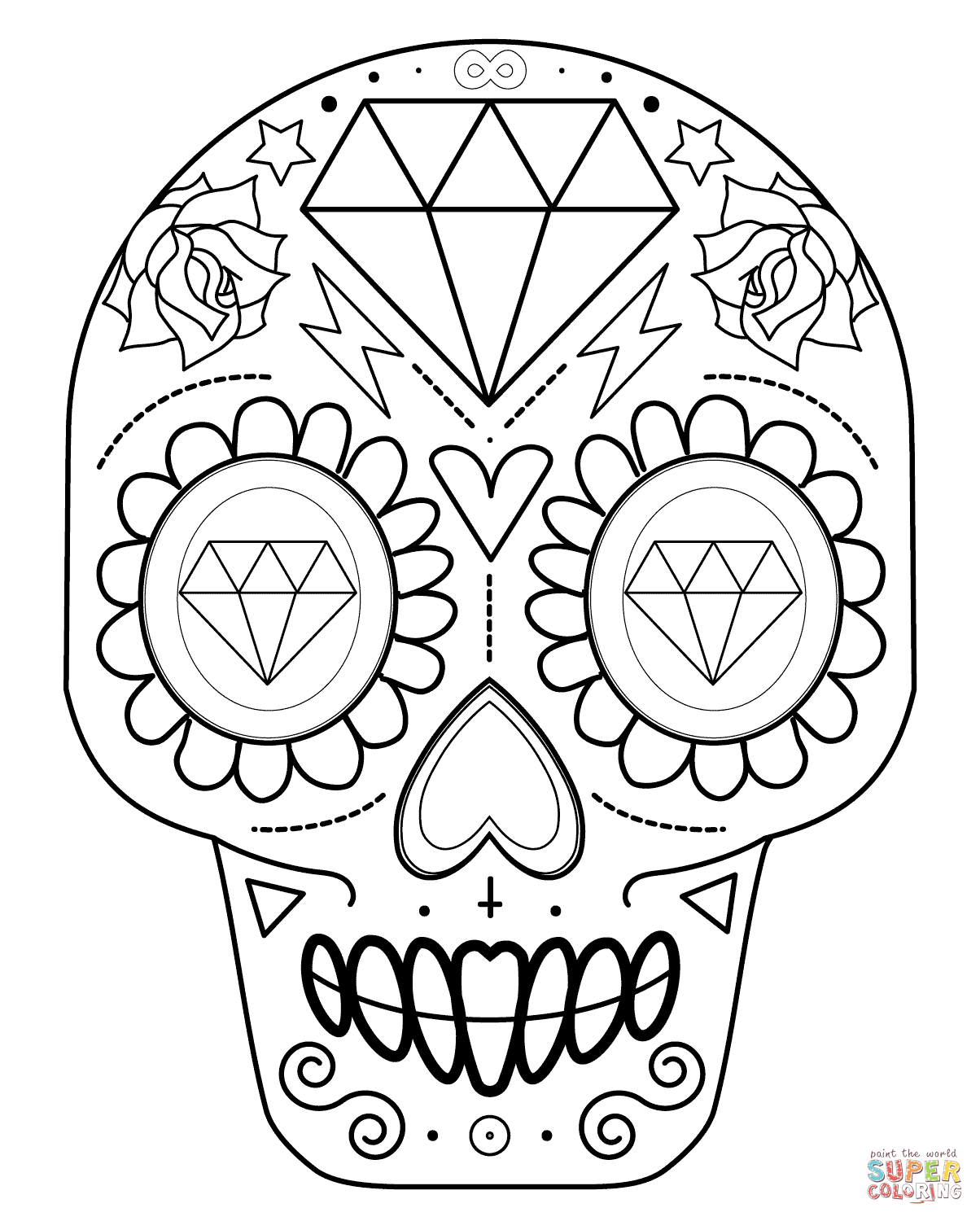Sugar Skull Drawing Easy at GetDrawingscom Free for personal use