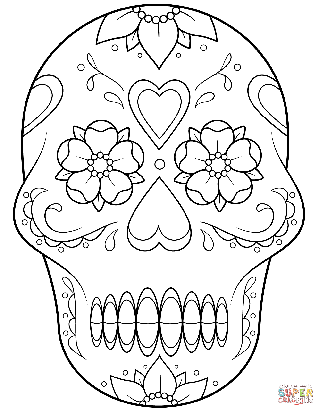 Sugar Skull Drawing Easy At Getdrawings Com Free For