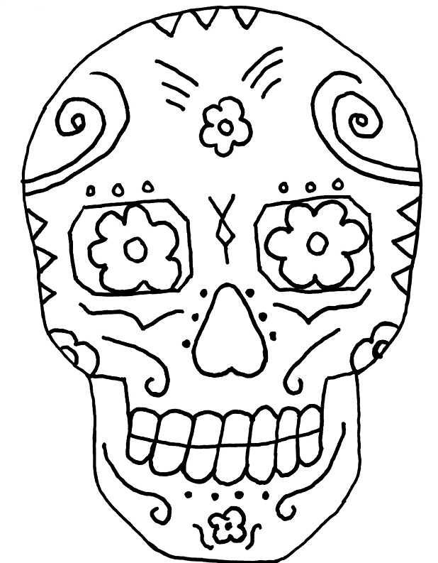photograph relating to Skull Template Printable referred to as Sugar Skull Drawing Template at  Totally free for