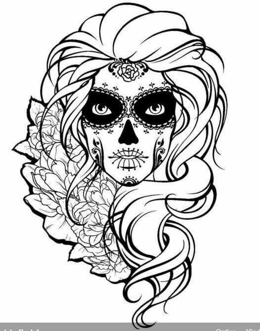 Sugar Skull Drawing Template at GetDrawings   Free download