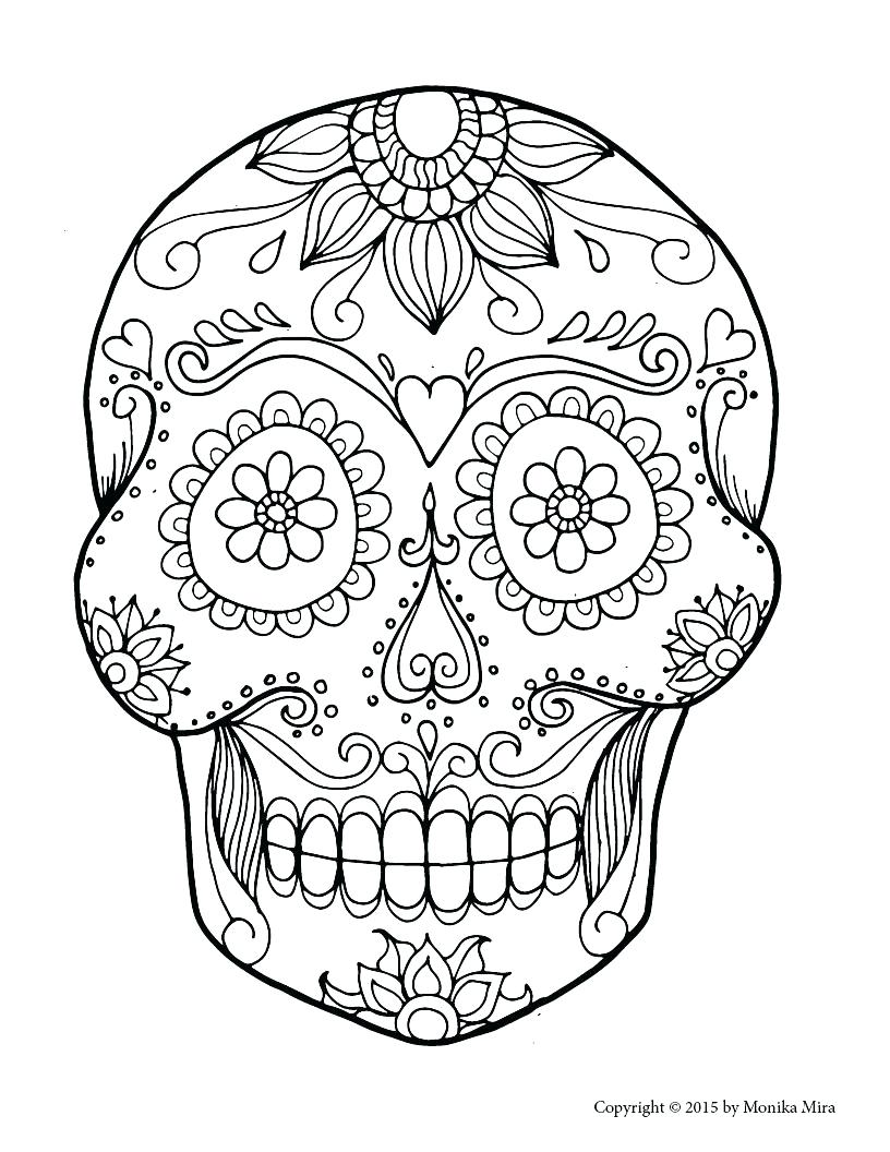 It is a picture of Epic Day of the Dead Skull Template Printable