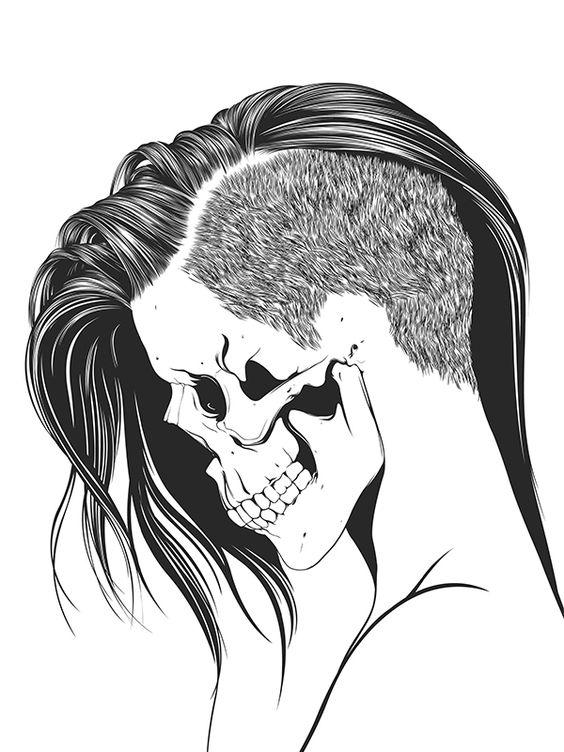 564x752 Pretty Skulls Tumblr Browse Girl Skull Skeleton Bone Skull Face