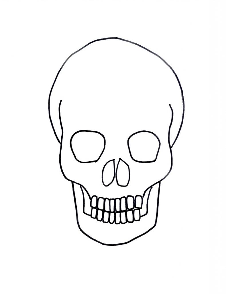 789x1024 Simple Skull Drawing