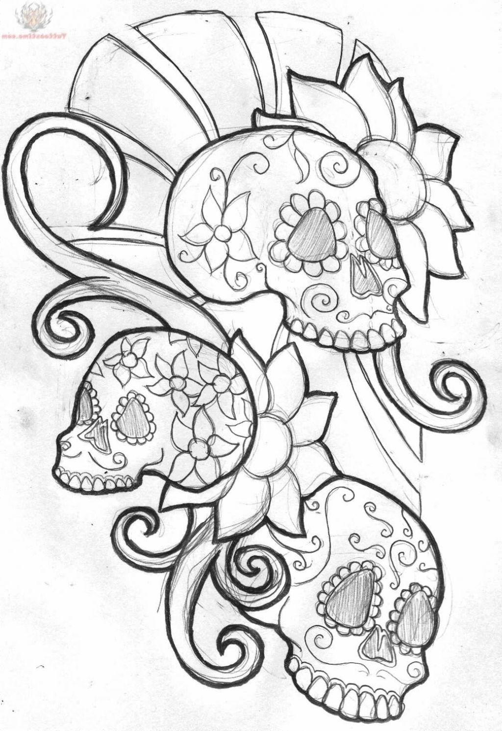 1024x1490 Sugar Skull Tattoo Designs
