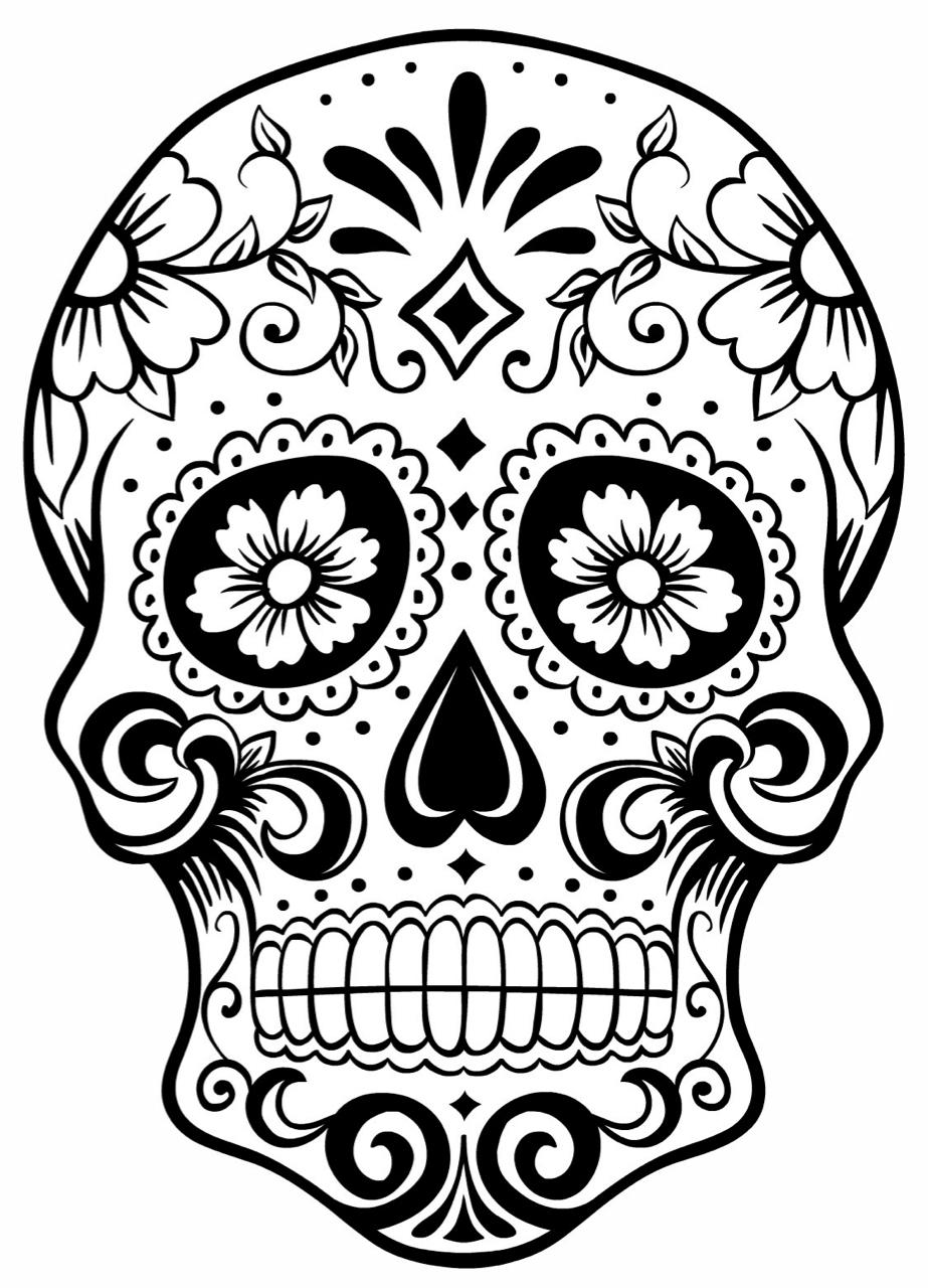 923x1280 Sugar Skull Tattoos Tumblr Sugar Skull Clip Art Black And White