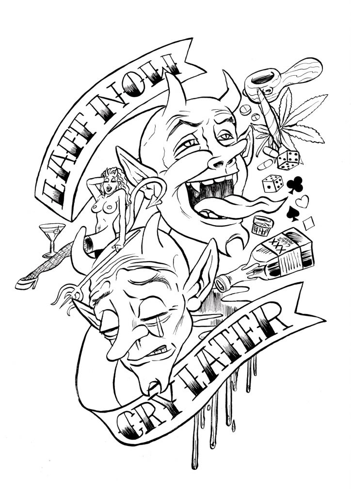 724x1024 Tattoos Coloring Pages