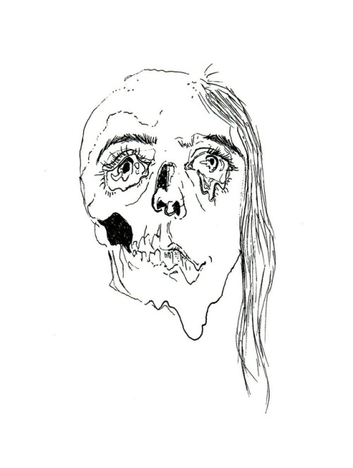 500x662 Girl Skull Face Tumblr