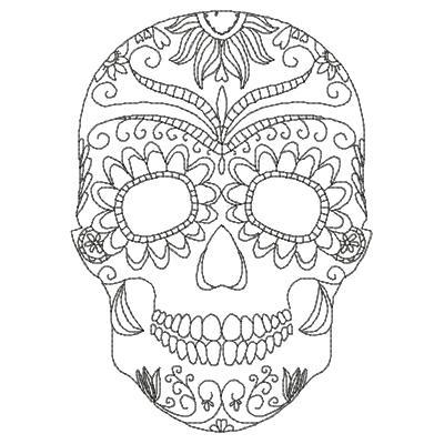 400x400 Drawn Sugar Skull Doodle