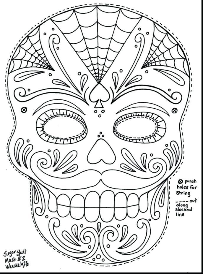 687x923 Sugar Skull Color Pages Medium Size Of Skull Coloring Page Skulls
