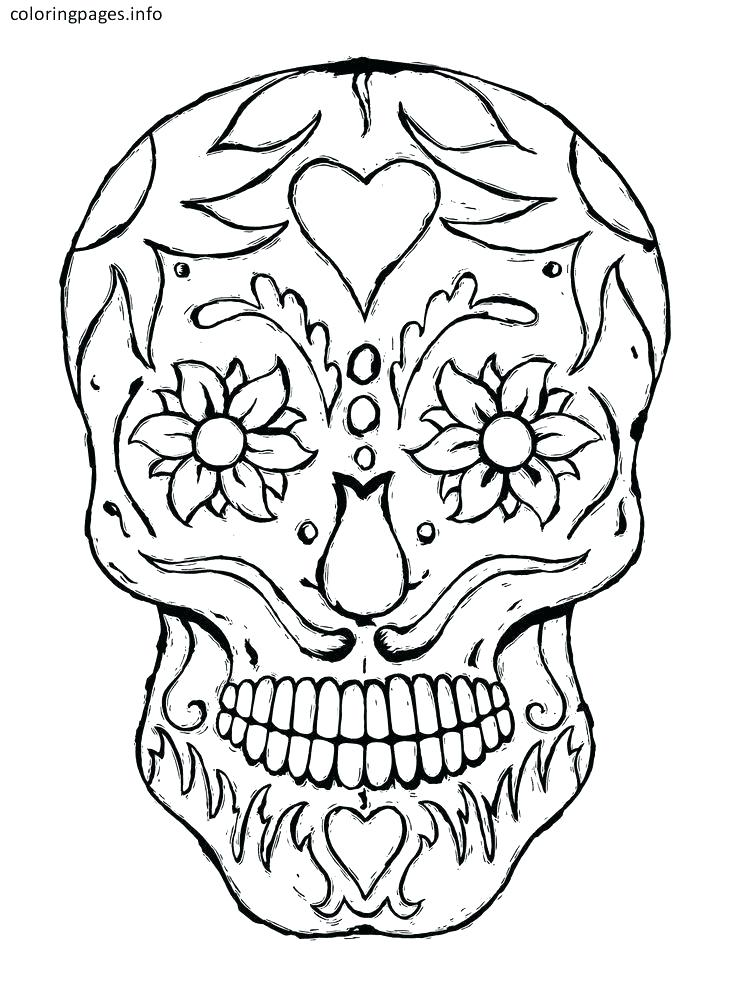 736x1001 Candy Skull Coloring Pages Sugar Skulls Coloring Pages Free
