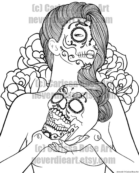 Sugar Skull Face Drawing at GetDrawingscom Free for personal use