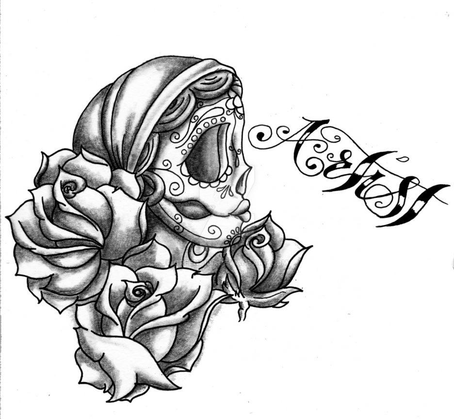 936x864 Adult Sugar Skull And Rose Sugar Skull And Rose Tattoo Tumblr