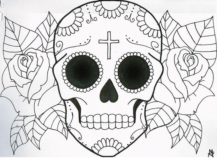 736x536 Drawn Skull Sugar Skull