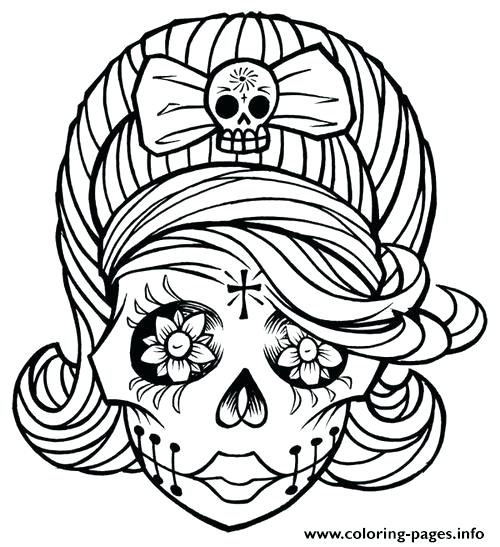 500x547 Girl Coloring Page Sugar Skull Girl Coloring Pages Pretty Girl
