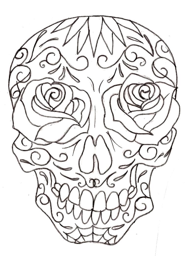 sugar skull girl drawing at getdrawings com free for personal use