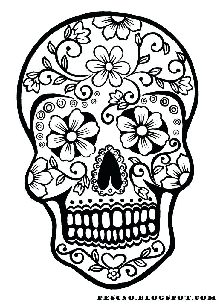736x1012 Skull Coloring Page Sugar Skull Coloring Pages Free Awesome